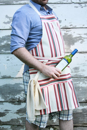 Load image into Gallery viewer, Chef Apron - Red Striped