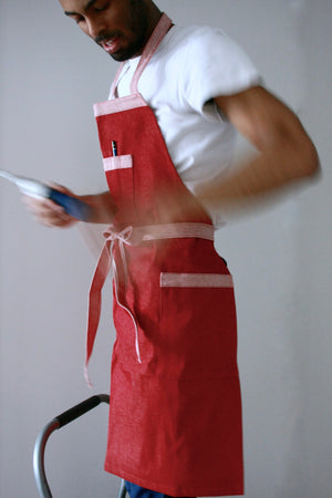 Load image into Gallery viewer, Workman's Apron - Red Denim