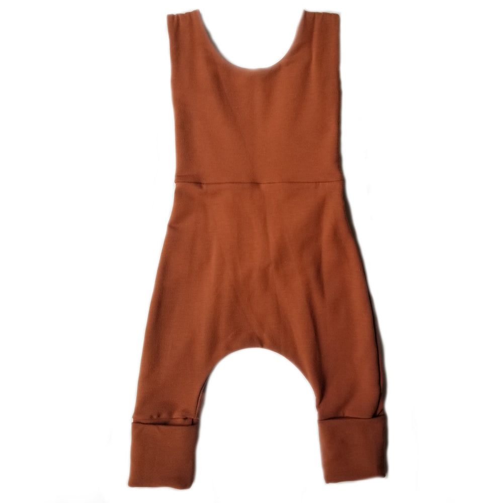 Grow With Me Overalls | Rust *French Terry