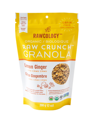 Load image into Gallery viewer, Lemon Ginger with Camu Camu Raw Crunch Granola