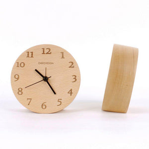 Load image into Gallery viewer, Beech Wood Tabletop Clock