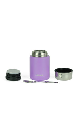 Load image into Gallery viewer, Minimal Insulated Food Jar, 500ml, Lavender