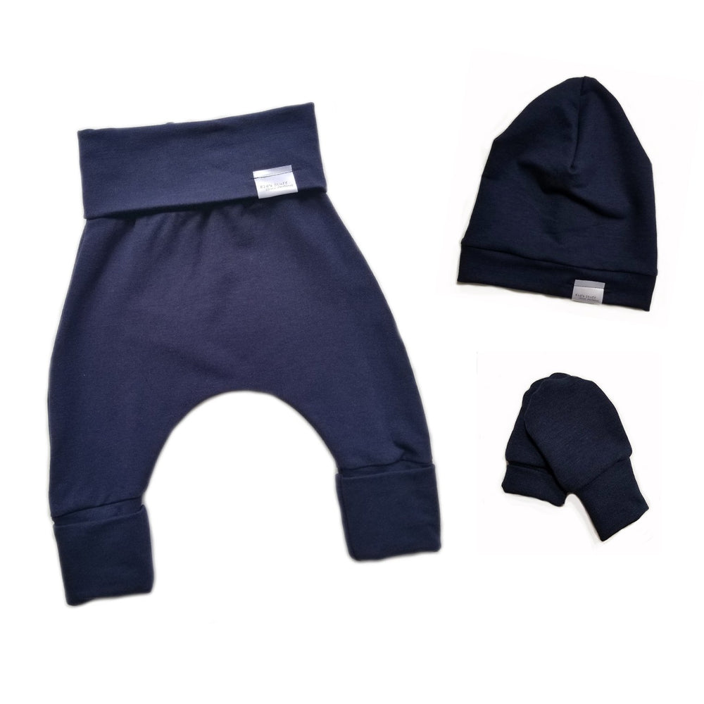 Load image into Gallery viewer, Newborn Set | Navy *French Terry
