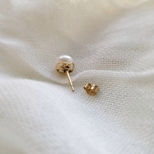 Load image into Gallery viewer, Golden Halo Pearl Studs
