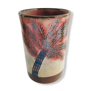 Load image into Gallery viewer, Pottery Toothbrush Holder - Adobe & Palm Tree