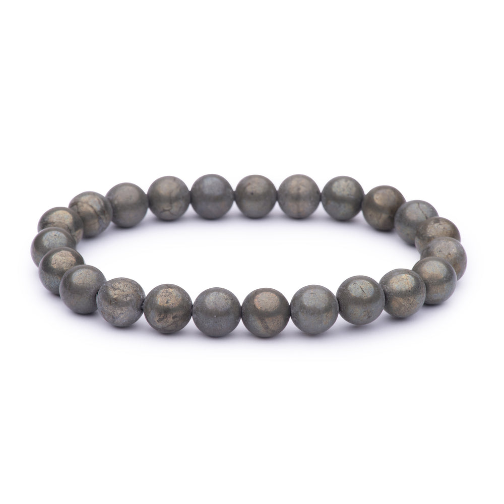Power bracelet (8mm) - Pyrite