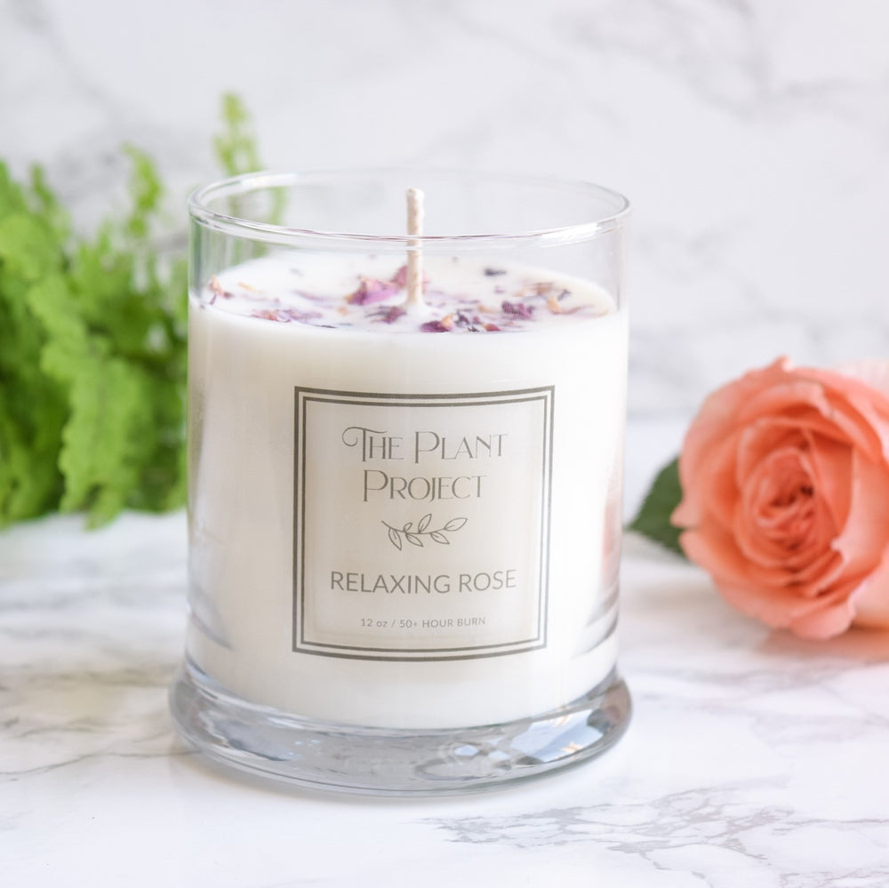 Rose Soy Aromatherapy Candle