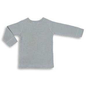 Load image into Gallery viewer, Alpine Grey Waffle Long Sleeve Tee