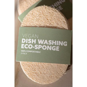 Load image into Gallery viewer, Biodegradable Eco-Sponges for Dish Washing 3-Pack