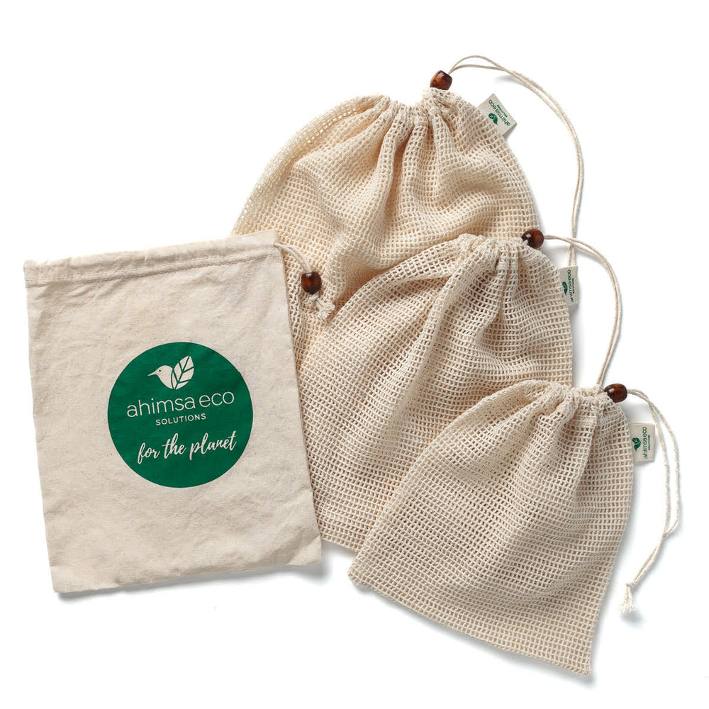 GOTS Certified Organic Cotton Produce Bags Set