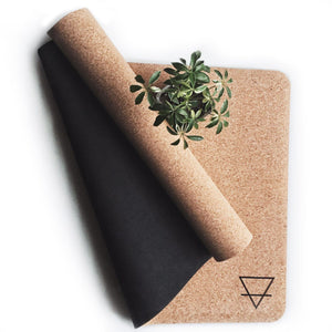 Load image into Gallery viewer, Standard, Earth is Home, natural cork yoga mat