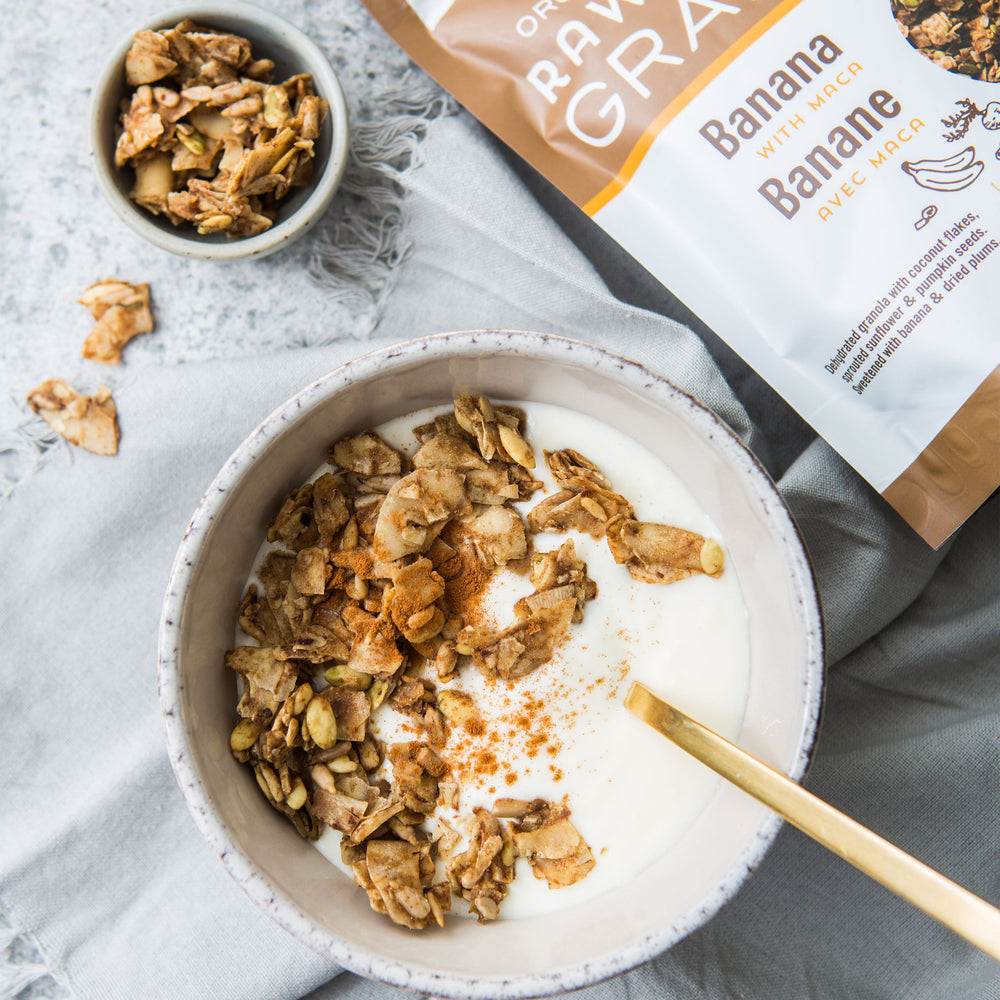 Load image into Gallery viewer, Banana with Maca Raw Crunch Granola