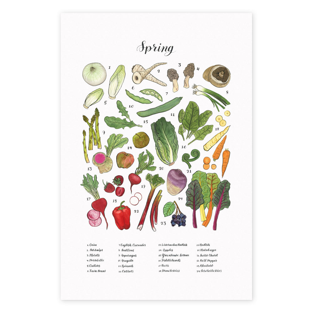 Four Seasons of Local Produce Prints