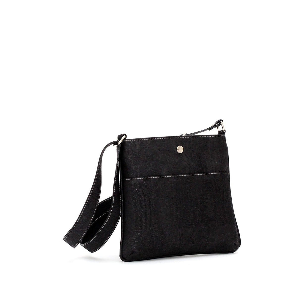 Georgia  Cork Crossbody | Black