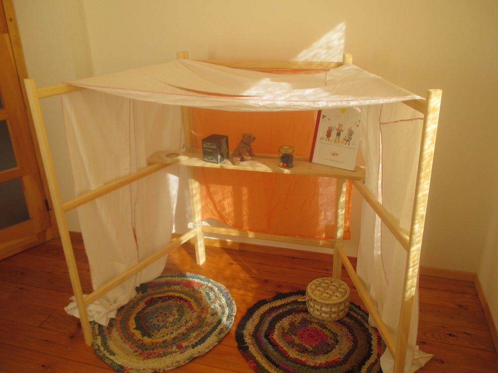 Load image into Gallery viewer, Waldorf space Divider / Playstand / Play tent