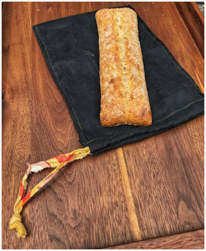 Load image into Gallery viewer, 8x10.5 Natural fibre linen bread bags (for demi-baguettes)