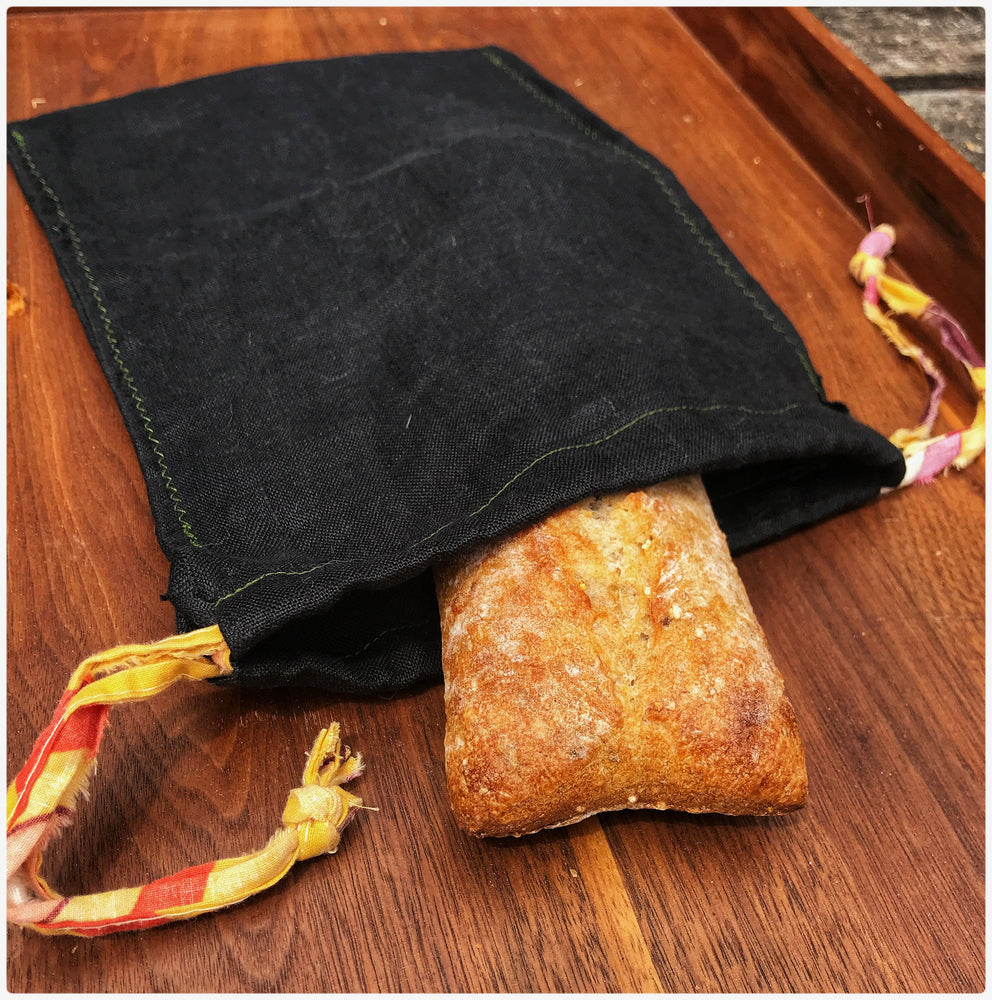 8x10.5 Natural fibre linen bread bags (for demi-baguettes)