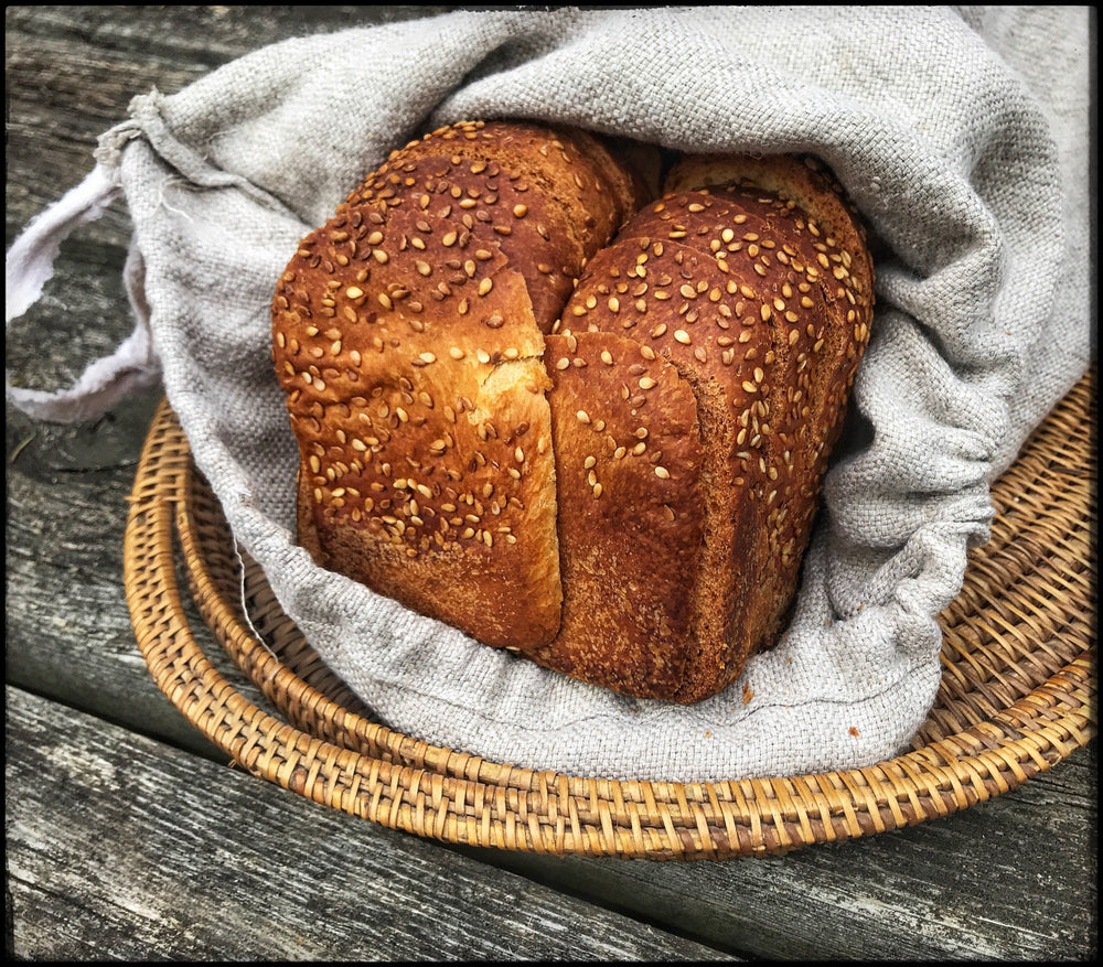 Load image into Gallery viewer, 12x16 Natural fibre linen bread bags (for sandwich loaves)