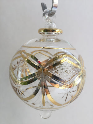 Load image into Gallery viewer, Blown Glass Ornament - Gold Garland