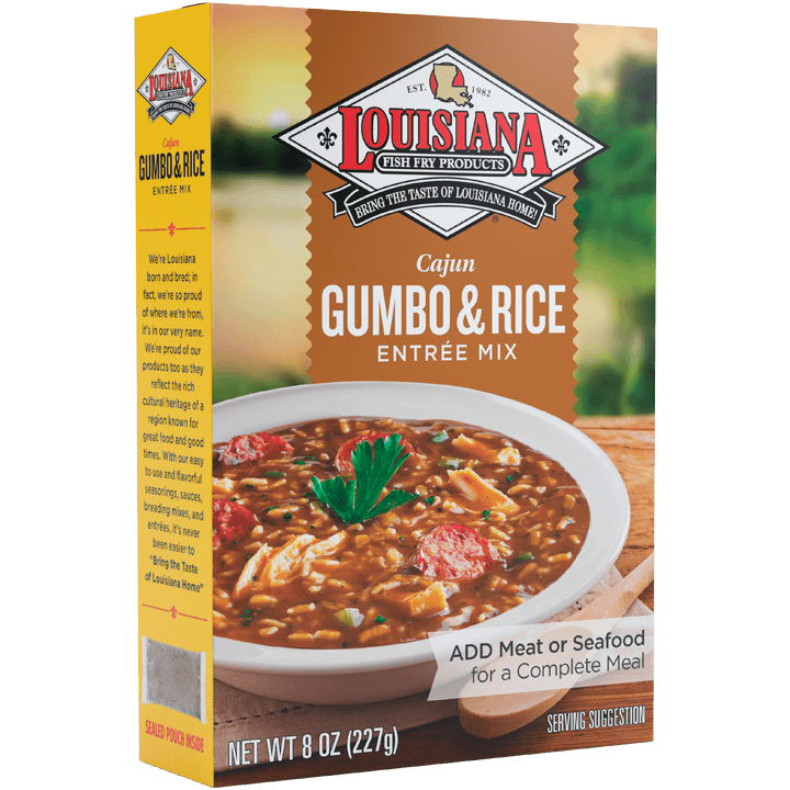 Louisiana Fish Fry Gumbo Base with Rice Entrée Mix