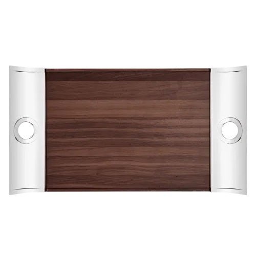 Oh de Christofle Rectangular Tray Bi Materia