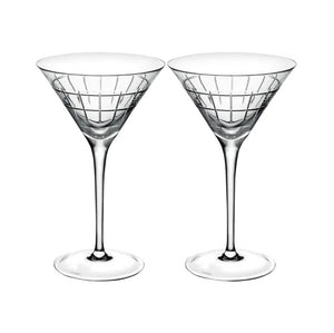 Graphik Martini Glass Set of 2