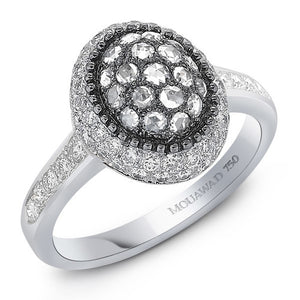 Rosette, Small Oval Ladies Ring