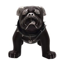 Load image into Gallery viewer, Brown Leather Bulldog Stool