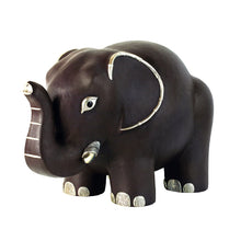 Load image into Gallery viewer, Brown Leather Elephant Stool