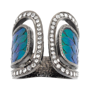 Scarab Ring Decorated with Diamond