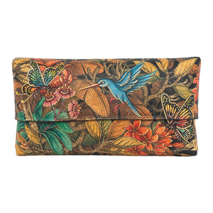 Balinese Painted Bamboo Handbag with Butterfly