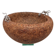 Load image into Gallery viewer, Cinnamon Bowl with Silver Monkeys
