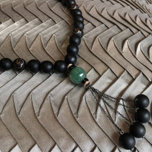 Load image into Gallery viewer, Tasbih with Blackwood and 9K Inlaid Bead