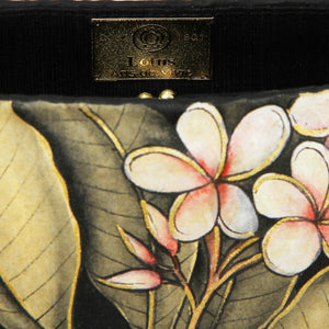Balinese Painted Bamboo Handbag with Dragonfly