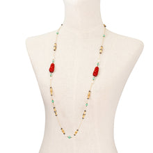 Load image into Gallery viewer, Red Lacquer Happy Monk Necklace