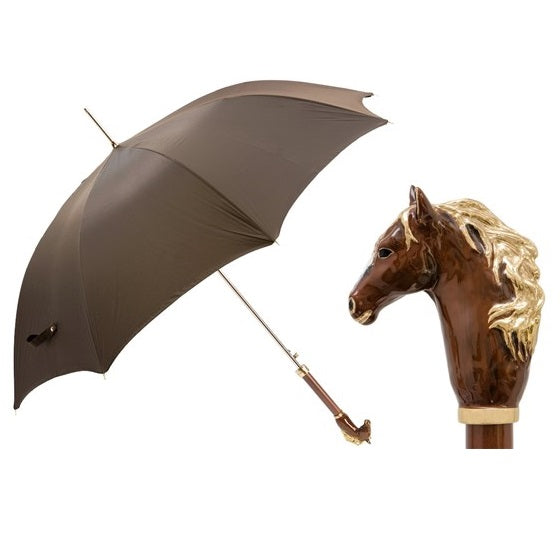 Brown Horse Luxurious Umbrella