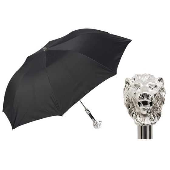 Silver Lion Folding Umbrella