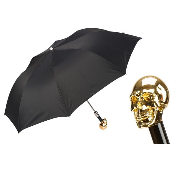 Gold Skull Folding Umbrella