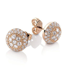 Rosette, Stud Earrings