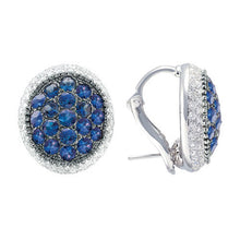 Load image into Gallery viewer, Rosette, Oval Earrings