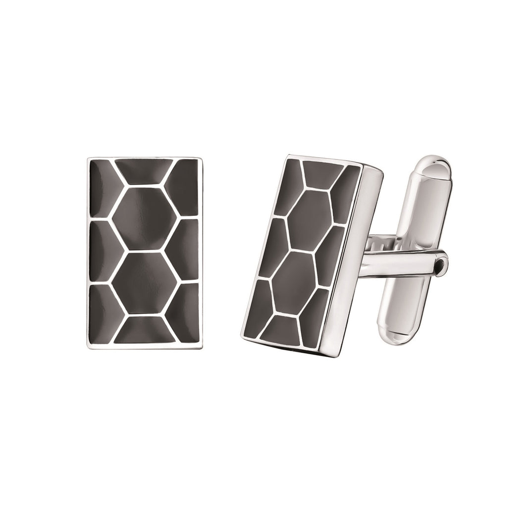 Code Royale Cufflinks, Grey