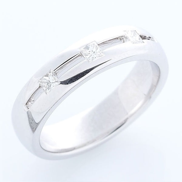 Diamond Band, 18K White Gold