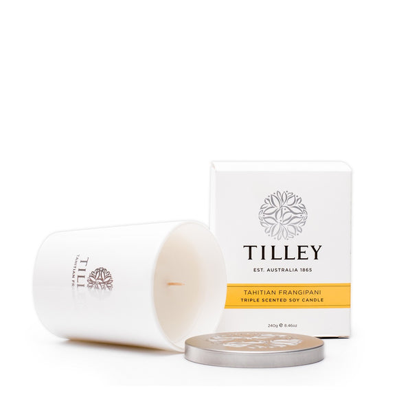 Tilley of Australia Tahitian Frangipani Triple Scented Soy Candle