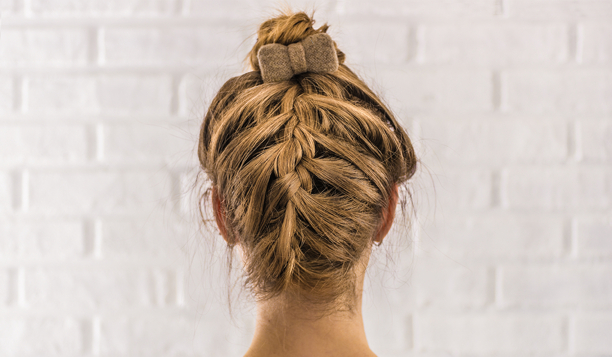 Back Braided Top Knot