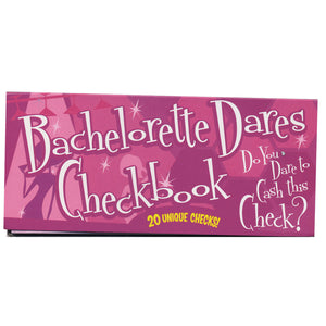 Shop Bachelorette Dares Checkbook, All Bout Boobies Adult Store