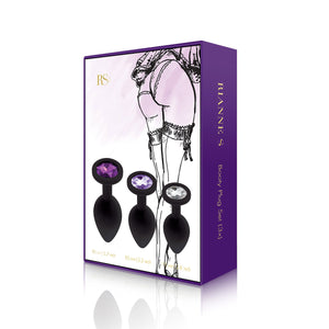 RIanne S Booty Plug Set 3-Pack - Black - All Bout Boobies