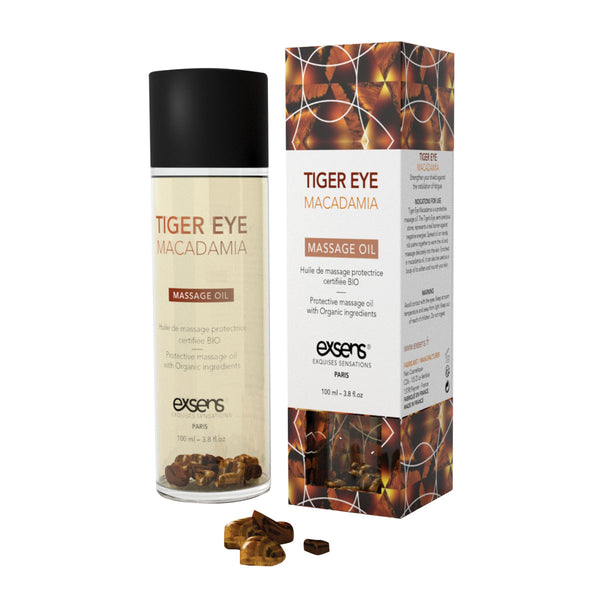 Exsens Massage Oil - Tiger Eye Macadamia 100ml - All Bout Boobies