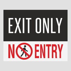 Exit Only Door Sticker