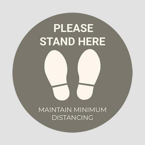 Maintain Minimum Distance Stickers (Pack of 6 Stickers)