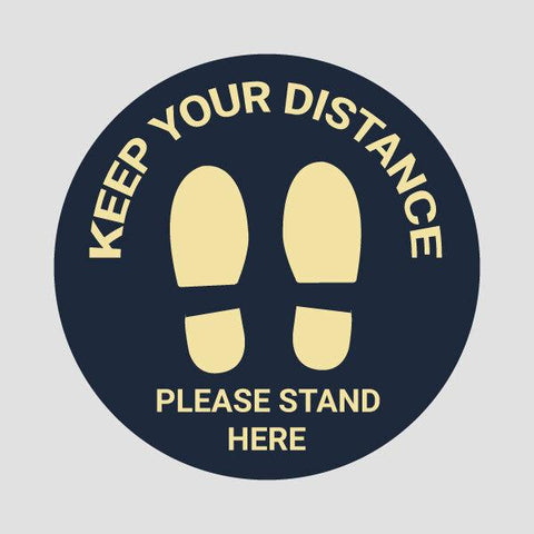 Stand Here Floor Stickers (Pack of 6 Stickers)